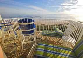 Ormond by the Sea Oceanfront Condo Balcony